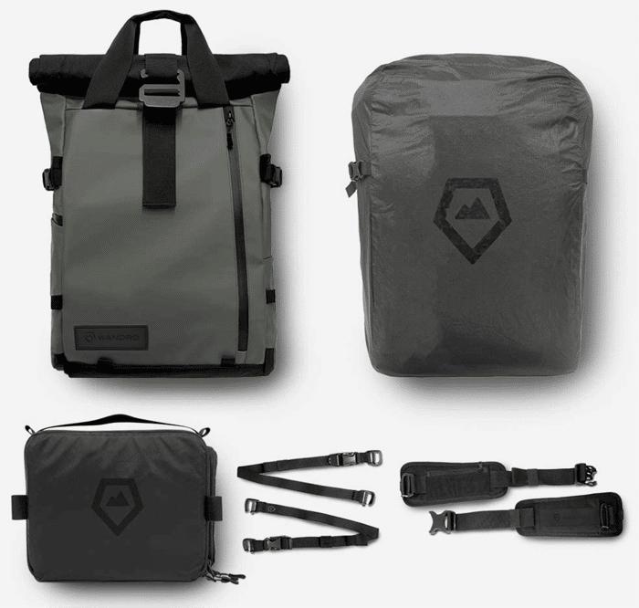 una foto de la mochila para cámara de viaje y DSLR PRVKE en todas sus formas